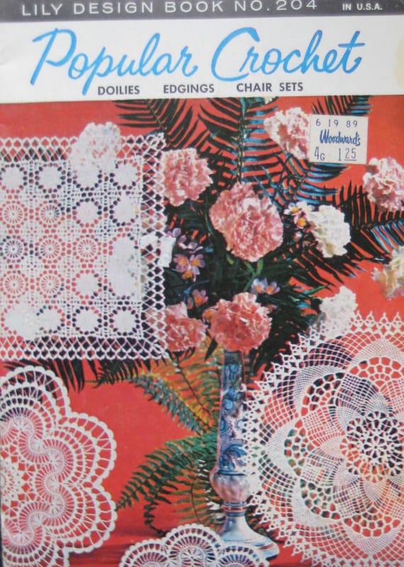 Vintage Popular Crochet Doilies Pattern Book Etsy