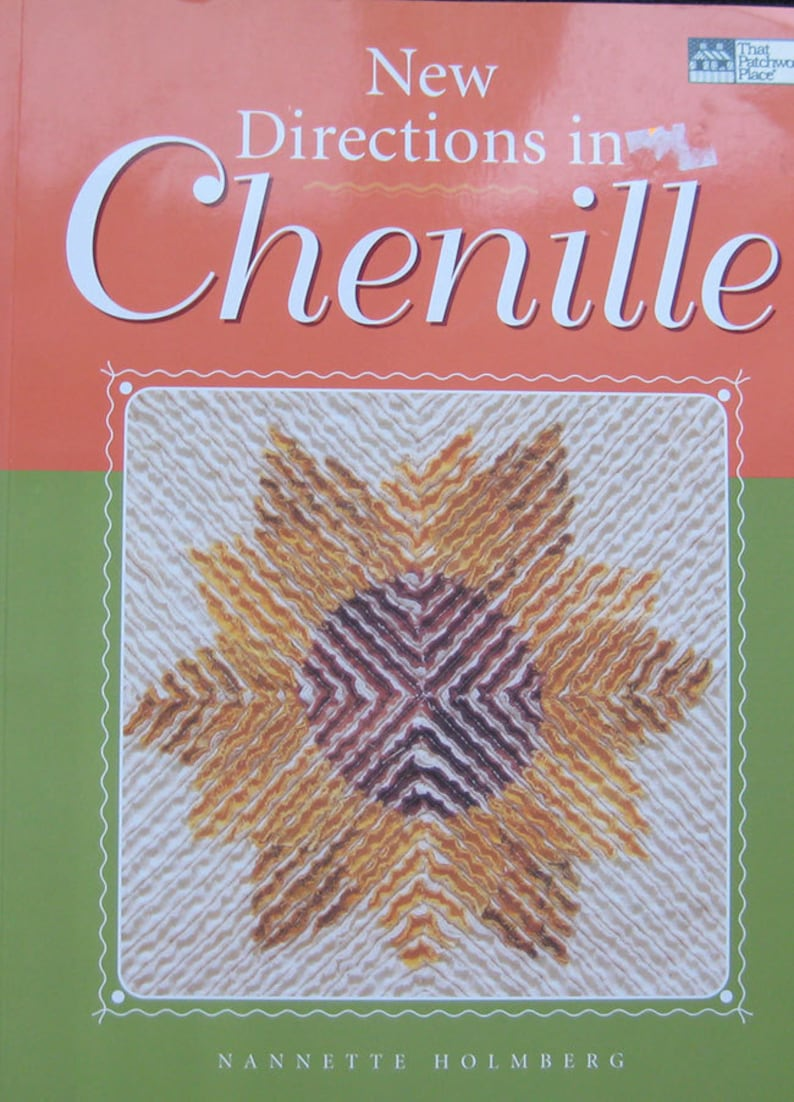 New Directions In Chenille Quilt Book by Nannette Holmberg image 0