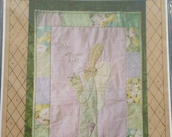 Rabbits Haven Bunny Applique Wall Quilt Pattern