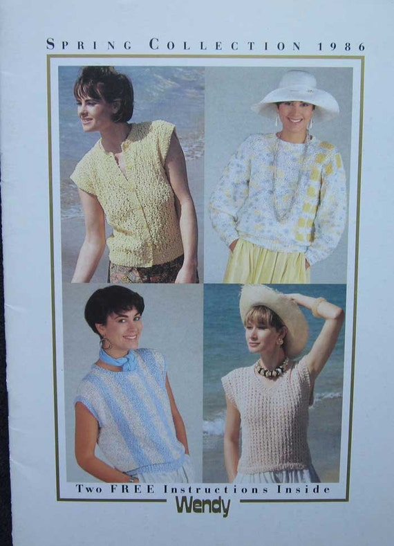 Wendy Knitting Pattern Book Spring Collection Etsy