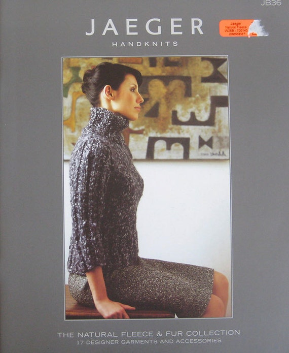 Jaeger Handknits Fleece Fur Collection Knitting Pattern Book Etsy