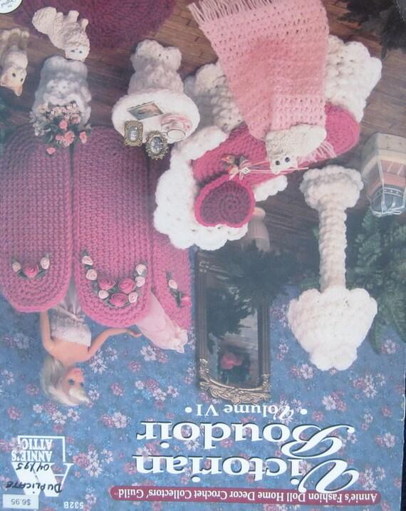 Annies Attic Victorian Boudoir Doll Fashion Crochet Pattern Etsy