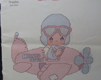 Precious Moments Cross Stitch Pattern Book Occupations