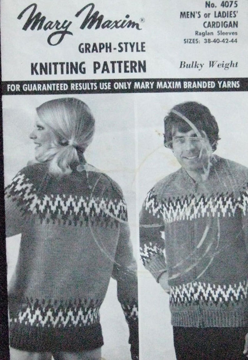 e22411ea536c Mary Maxim Graph Knitting Cardigan Pattern