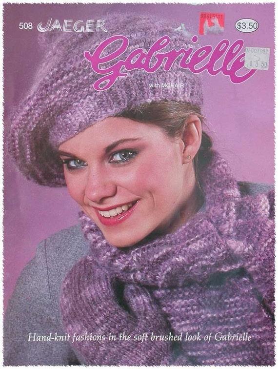 Vintage Jaeger Gabrielle Knitting Pattern Etsy