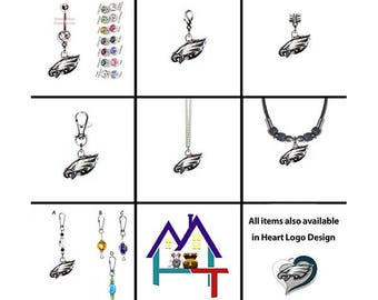 3cacbb460 NFL Philadelphia Eagles Logo Jewelry with Authentic Charms! Belly Rings,  Traditional & European Charms, Necklaces, Clips, Zipper Pulls