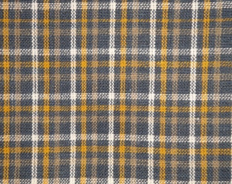 Cotton Rag Quilt Fabric Primitive Check Fabric Home Decor Fabric Mustard And Black House Check Homespun Fabric Fall Fabric
