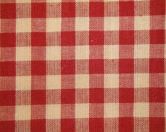 Check Fabric   Large Check Fabric   Homespun Fabric   Large Red Check Fabric   Farmhouse Fabric   Cotton Quilt Fabric   Primitive Fabric