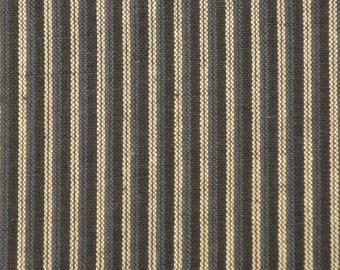 Blue Ticking Stripe Cotton Homespun Fabric | Blue Ticking Fabric | Ticking Stripe Fabric | Primitive Ticking Fabric | Blue Stripe Fabric