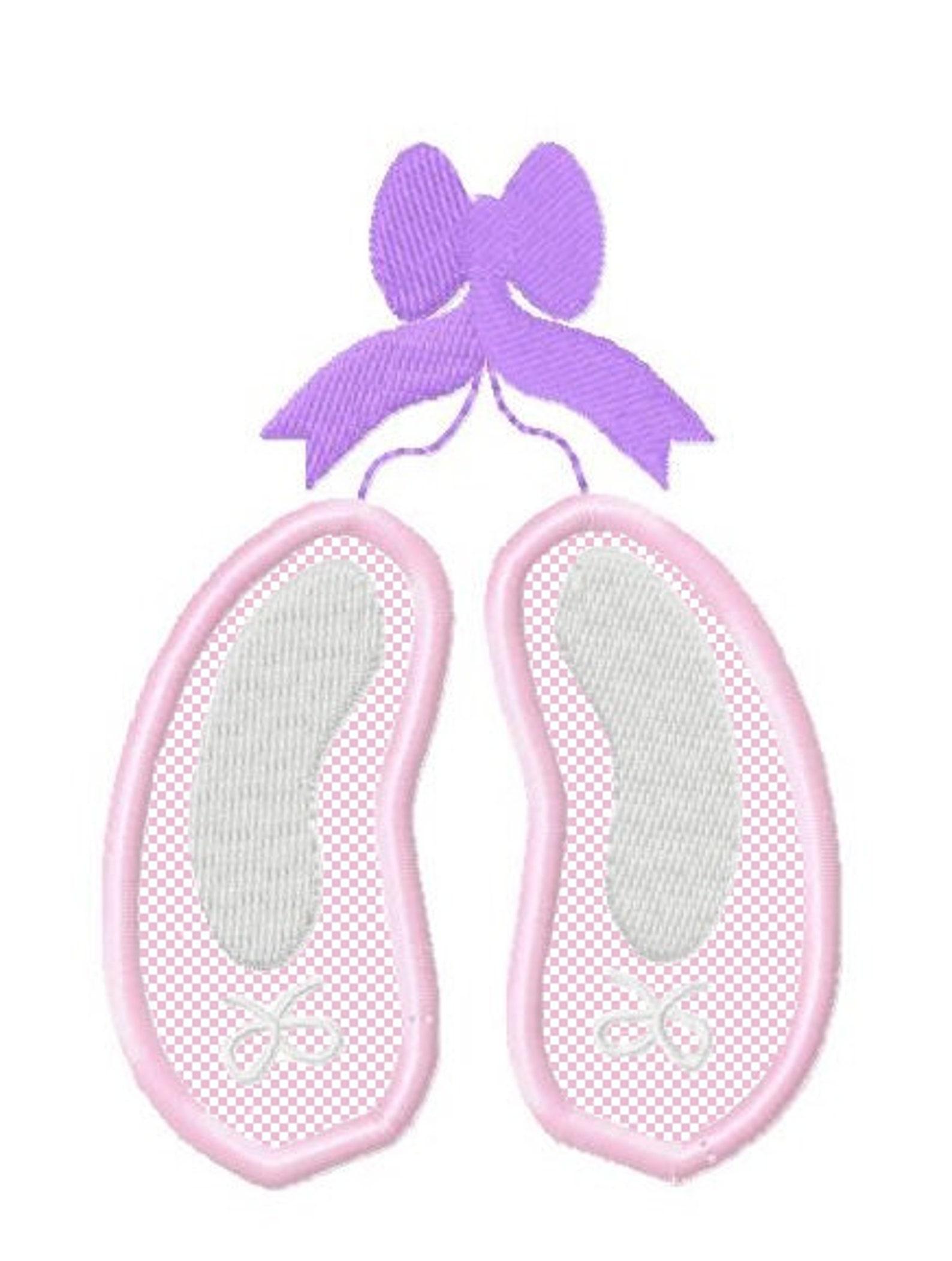 new applique ballet shoes