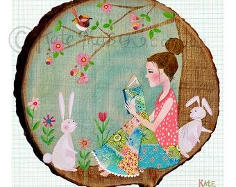 Bookworm and Friends ART PRINT