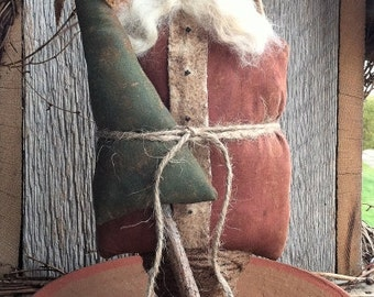 Olde Klaus EPATTERN...primitive country christmas santa cloth doll craft digital download sewing pattern...PDF...1.99