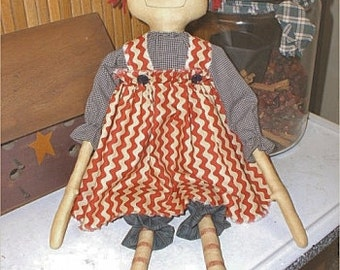 Jane Ann EPATTERN...primitive country cloth doll craft digital download sewing pattern...PDF...1.99