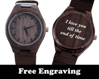 Engraved Watch, Groomsmen Gifts, Wedding Gifts, Wood Watch, Engraved Wood Watch, Wooden Watch, Customized, Personalized Gift