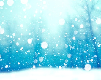 Falling snow, bokeh snow, snowflakes, Christmas, winter photography, abstract, winter forest, white snow, winter wedding, blue and white