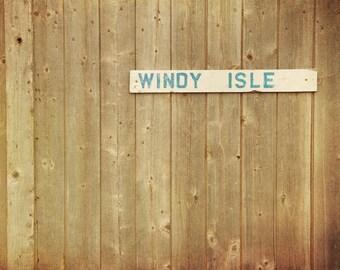 Rustic home decor faded barnwood cottage chic nautical theme neutral colors coastal minimalist seacoast - Windy Isle 8x10