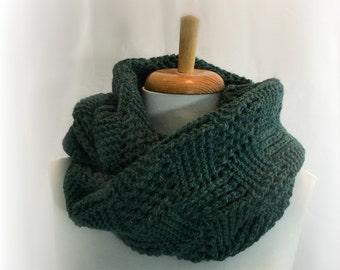 Knitted Wool Scarf / Neck Warmer / Cowl / Neckwarmer Hand Knit