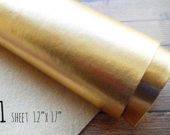 Gold Metallic Felt / Wool Felt Sheets 12x17 inches / Metallic Felt Sheets