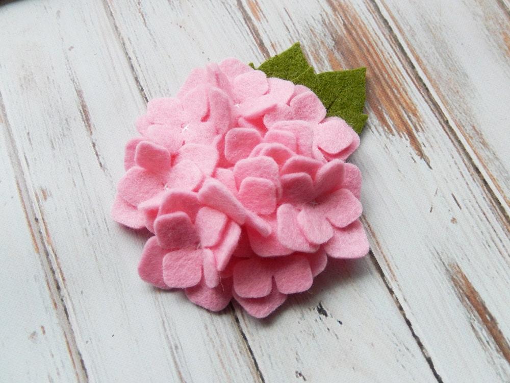Large Wool Felt Flower Hydrangea Cotton Candy Set Of 2 Etsy