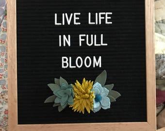 Wool Felt Succulents for Felt Letter Boards