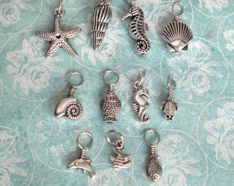 Cute charms available at Tipsy Whimsey! .. Sea life Dolphin Seashell Hearts Love Sweetheart Forever Sailing Anchor Crosses Religious Glasses