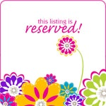 RESERVED LISTING for Sara Lawson
