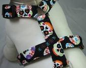 Dog Harness - Sugar Skulls