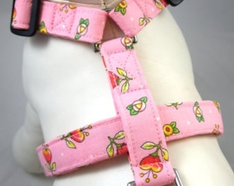Dog Harness - Pink Posies