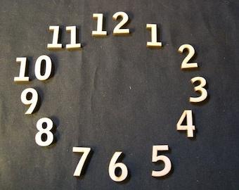 "Wood Clock Numbers Set  3/4"" Inch Laser Cut"