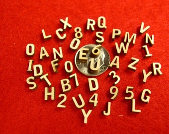 Craft Miniature Wood Letters and Numbers - 49 Laser Cut 1/4 inch pieces
