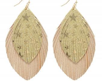 STAR FRINGE earrings