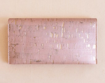 ROSE GOLD Cork Checkbook Cover