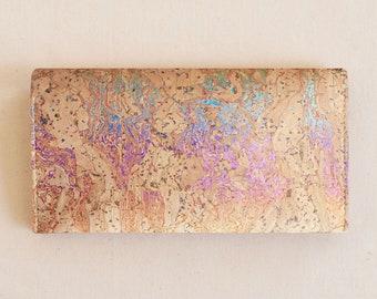 RAINBOW Cork Checkbook Cover