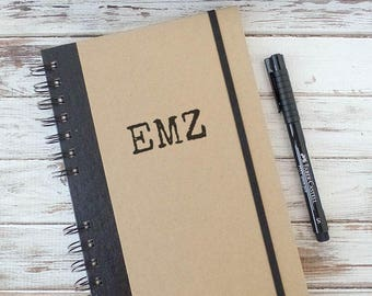Personalized Journal Notebook with Initials IN1