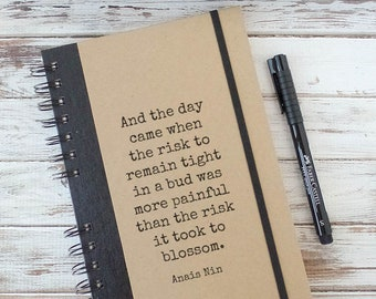 Anais Nin Quote Journal Notebook Best Friend Gift for Women Birthday Gift for Her AN1