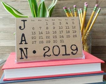 2019 Desk Calendar Etsy