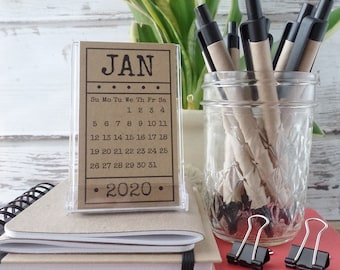 Best Hostess Gifts 2020 Mini Calendar with Stand 2020 Desk Calendar Group Gift for | Etsy