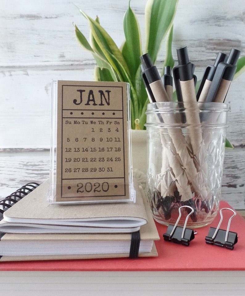 Best Hostess Gifts 2020 Mini Calendar with Stand 2020 Desk Calendar Gift for Women | Etsy
