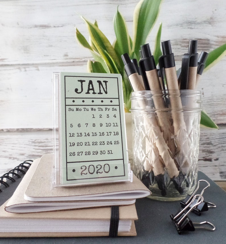 Best Hostess Gifts 2020 2020 Calendar Gift for Women Coworker Gift Mini Calendar with | Etsy