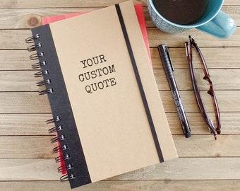 Custom Journal Personalized Boyfriend Gift Coworker Gift Notebook Graduation Gift SA2