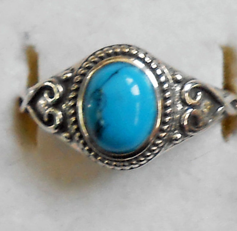 Size 10 Turquoise Sterling Silver Ring  New Vintage Wholesale Healing and Protection