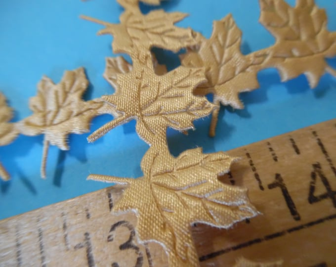 """Satin Face Maple Leaf Trim/Appliques~Light Gold~5/8""""Wide~By The Yard~Doll Trim"""