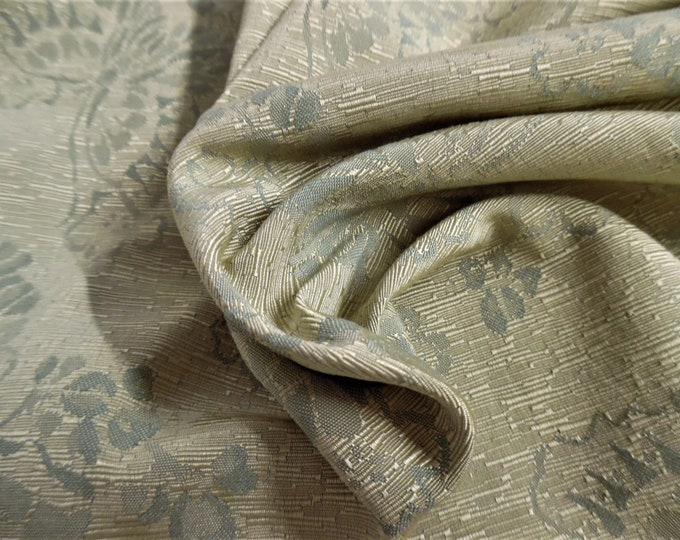 """Rayon Suiting~Textured Jacquard Floral~Shades of Seafoam~18""""x29""""~Doll Fabric~Flapper"""