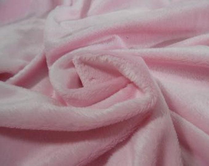 "Soft Silky Minky Faux Fur~Pink~12""x30""~1/8""Pile~Coat & Hat Trim~Coats~Capes~Hats~Muffs"