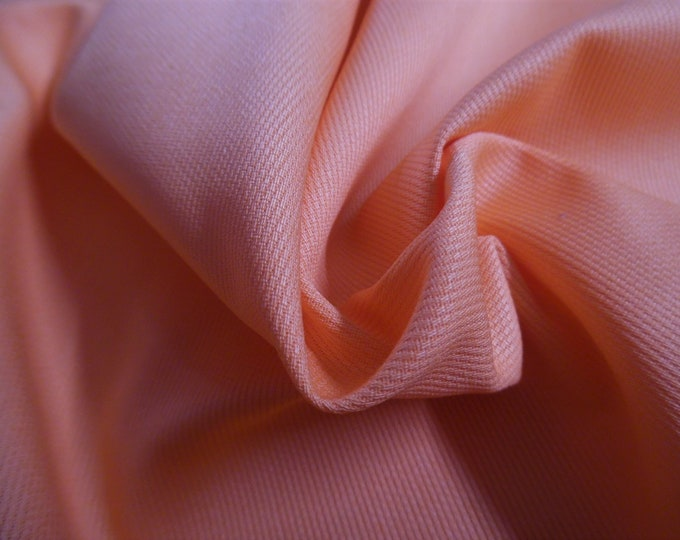 """Imported Swiss Cotton Pique~Soft Melon Color~Soft~Semi Sheer~12""""x27""""~Doll Fabric"""