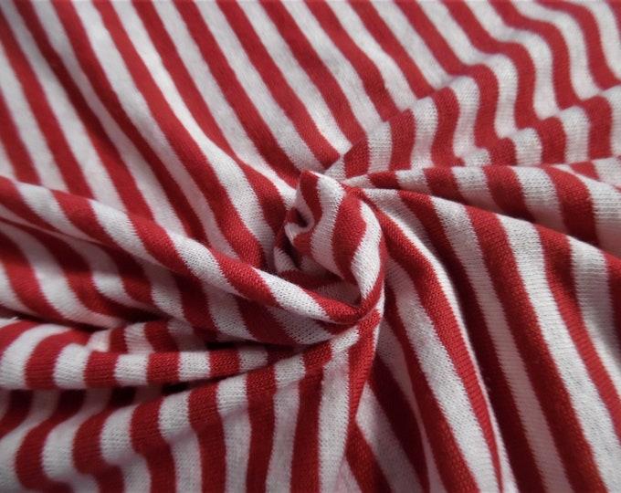 "Red & White Stripe Jersey Knit~Doll Fabric~12""x34""~Great 4 stockings, socks, leggings, Sweaters!"