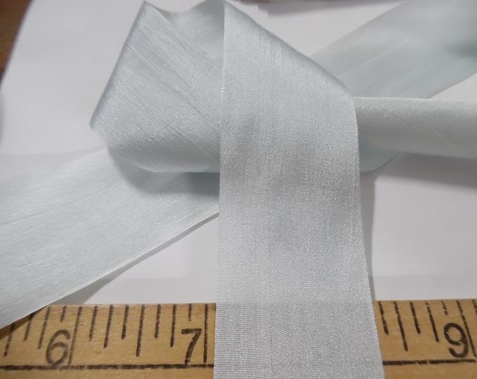 Wide Silk Ribbon~33MM x 1 Yard~Light Blue~Doll Dress and Hat Trim