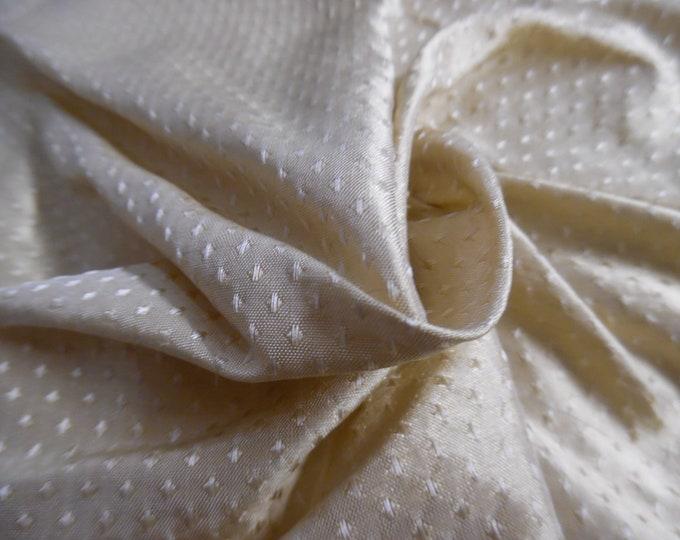 "Micro Diamond Pattern Silk Jacquard~Dark Cream~9""x27""~Back in Stock!"