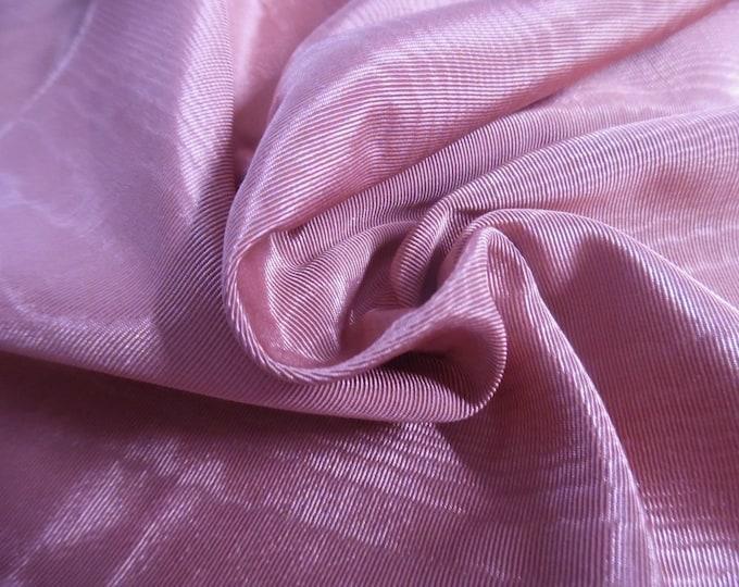 "Vintage Moire' Faille Taffeta~100% Rayon~Dark Vintage Pink~12""x54""~Doll Fabric"