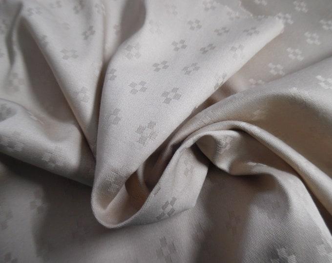 "Cotton Jacquard Sateen~Latte Cream~12""x54""~Doll Fabric"